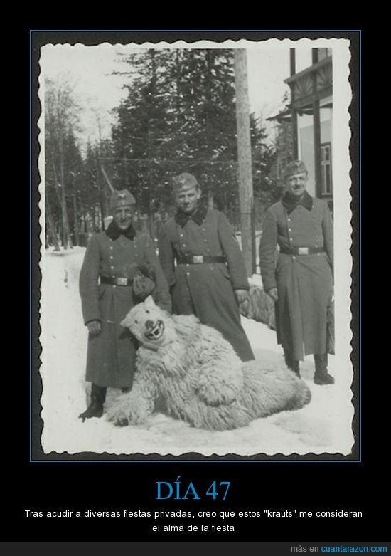 Alemanes,día 47,fotografía,oso,segunda guerra mundial