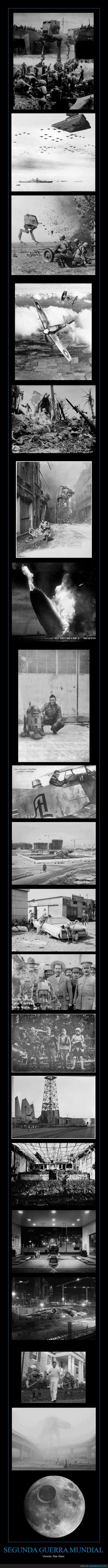 antiguo,montaje,segunda guerra mundial,star wars,WWII