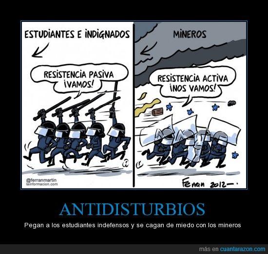 antidisturbios,huelga general,mineros,PCPE