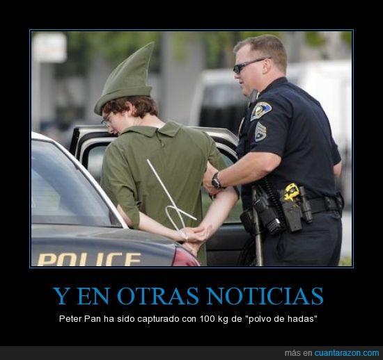 arrestar,coche,detener,peter pan,policia,traficante