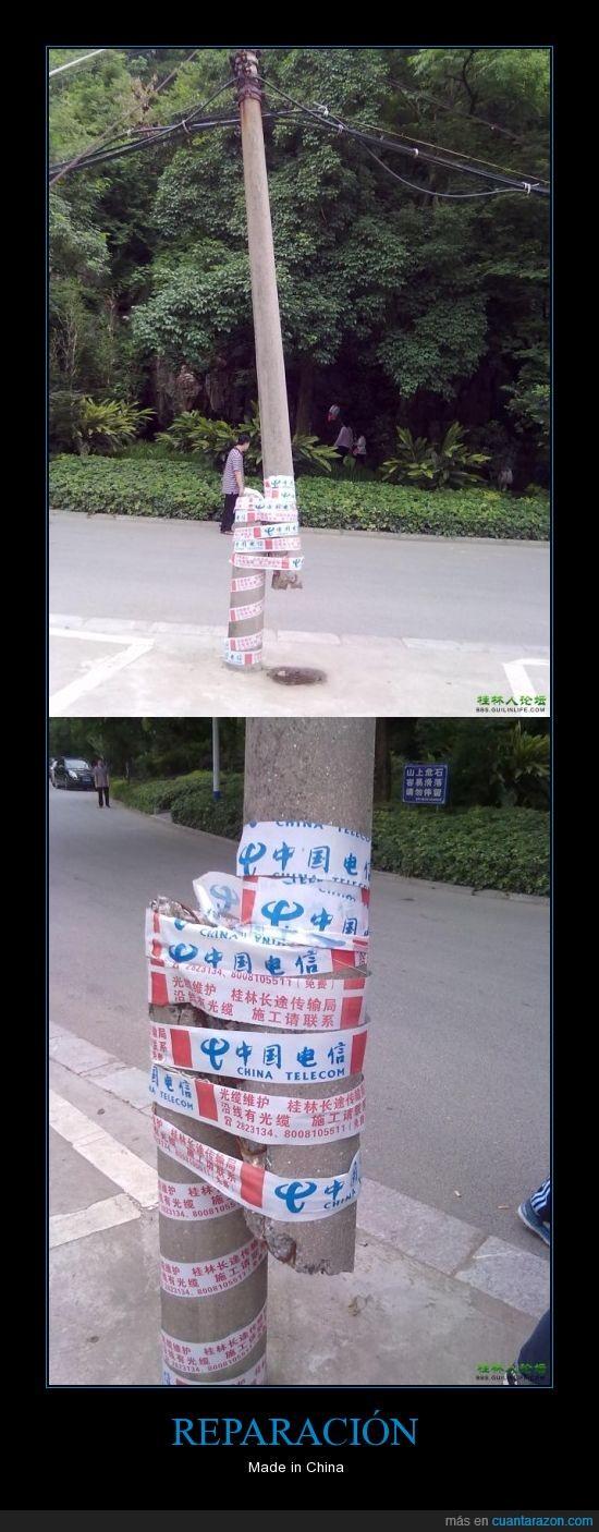 calle,china,chinos,poste,reparacion