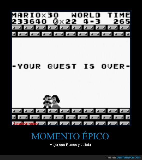 1989,encuentra,llega,over,princesa,quest,salva,super mario