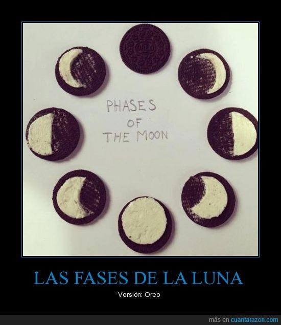 fases,galleta,luna,oreo