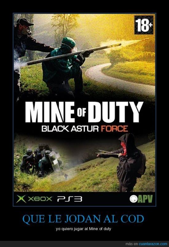 cod,duty,juego,mine,minero,montaje,of,play,xbox