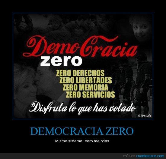 cocacola zero,cuanta razón,democracia,desgraciadamente