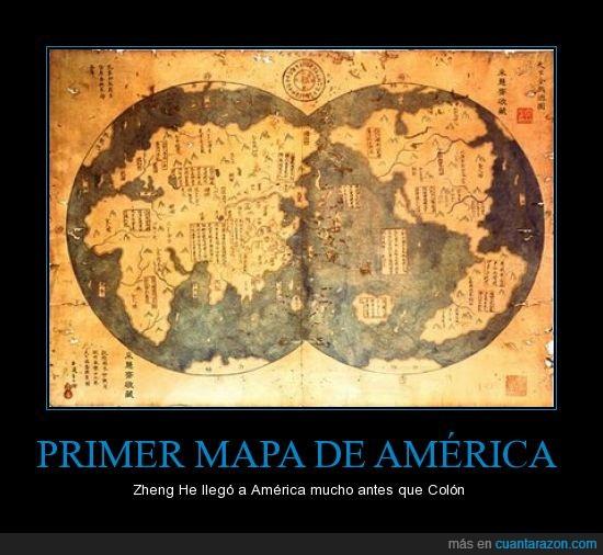 américa,chinos,colón,descubrimiento,zheng he