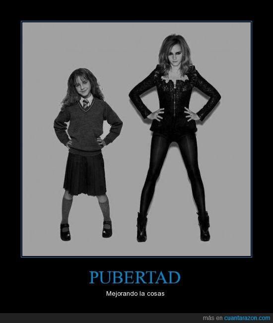 buena,emma watson,niña,pubertad