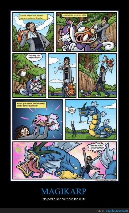 batalla,evolucion,gyarados,hostia limpia,inutil,magikarp,pez inutil,pokemon