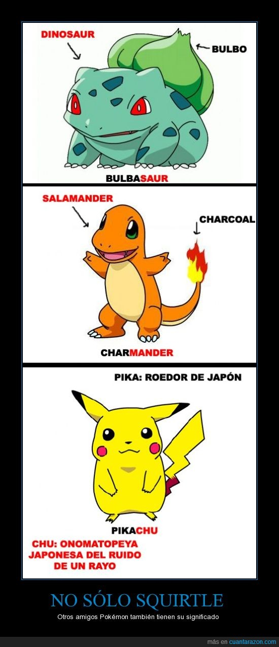 bulbasaur,charmander,pikachu,Pokemon,squirtle