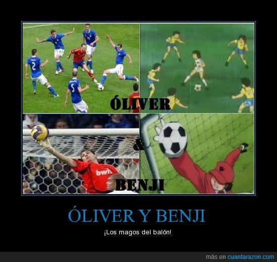 benji,casillas,fútbol,iniesta,magos del balón,oliver
