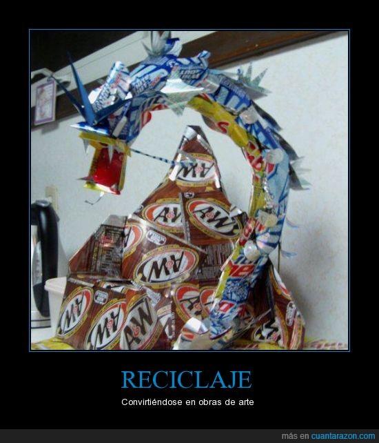 caja,Gyarados,obra de arte,plástico,Pokémon,reciclaje