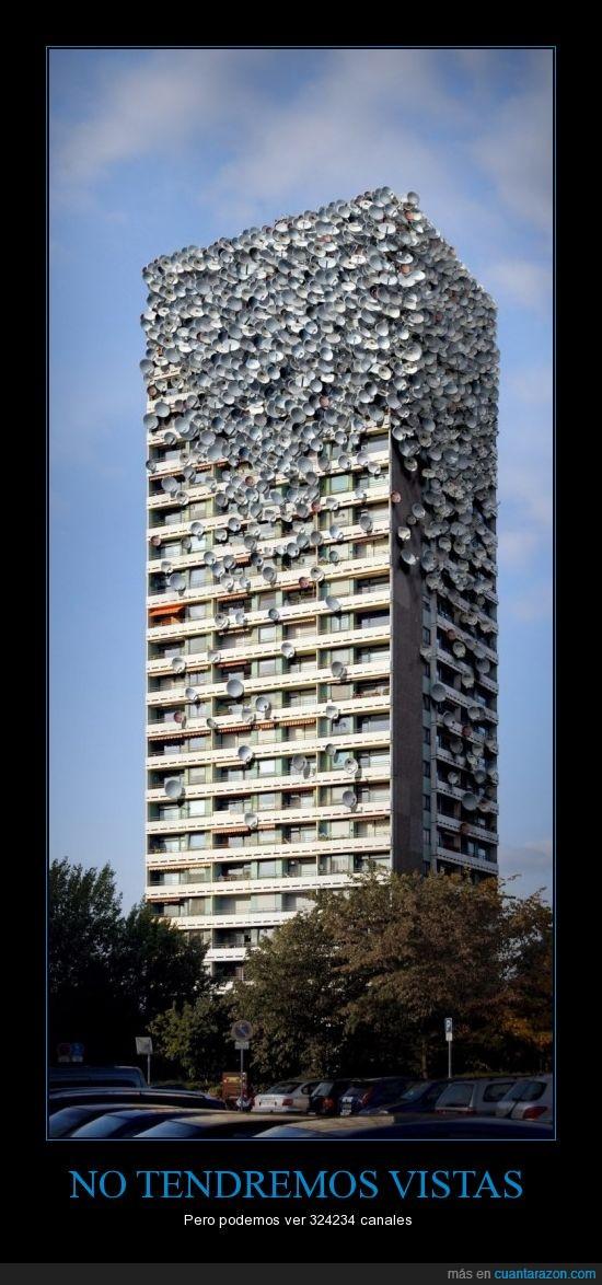 antena,Antenas,bestia,edificio,epidemia,muchas,pisos,plagado