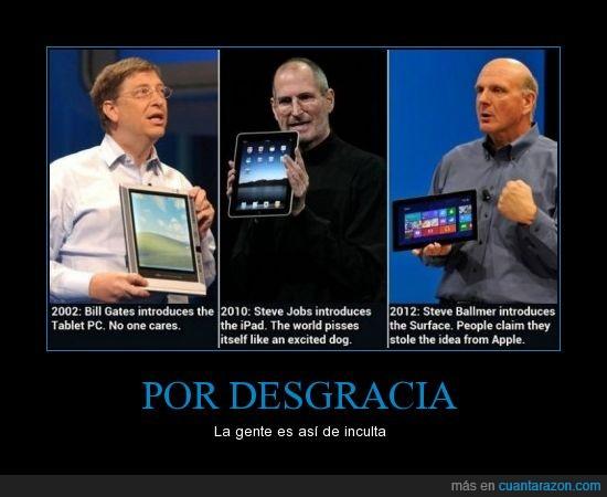 Apple,Bill Gates,iPad,PC tablet,Steve Ballmer,Steve Jobs,Surface
