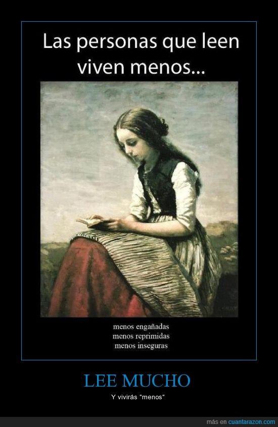 leer,sencillamente cuanta razon,vivir