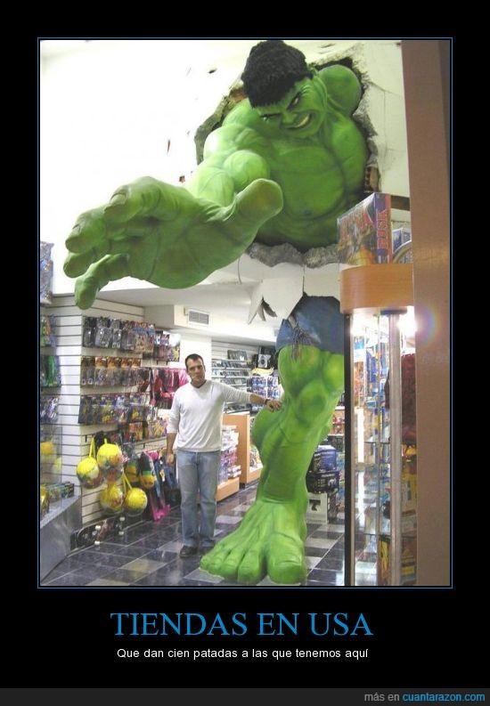 comics,figura,friki,gigante,Hulk,maniquí,muñeco,tienda