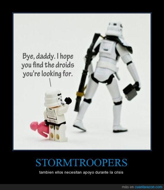 buscas,droides,encuentra,fijo que se lo cargan,hijo,niño,papa,pequeño,stormtrooper