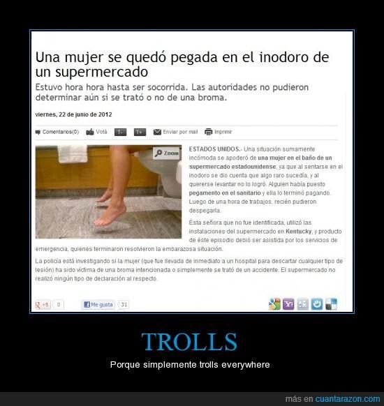inodoro,mujer,pegada,superglue,trolls,vate