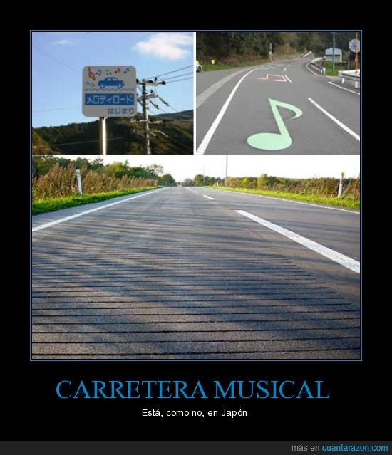 carretera,coche,Japón,música,nota,pavimento,pinta,suelo