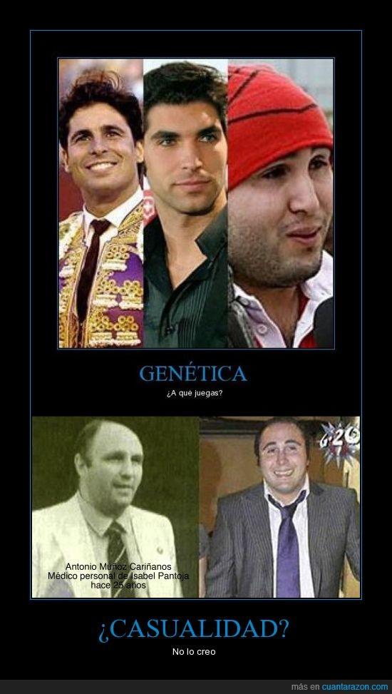 casualidad,doctor,feo,gen loco,genética,hijos guapos,kiko rivera,médico,pantoja,paquirrín,uno feo