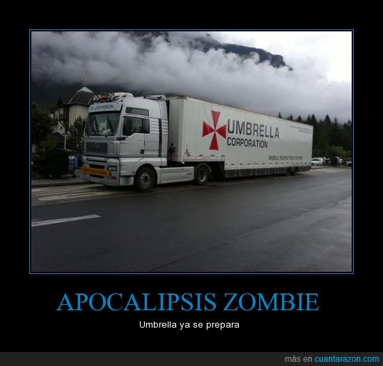 camión,humo,resident evil,umbrella corporation,zombies