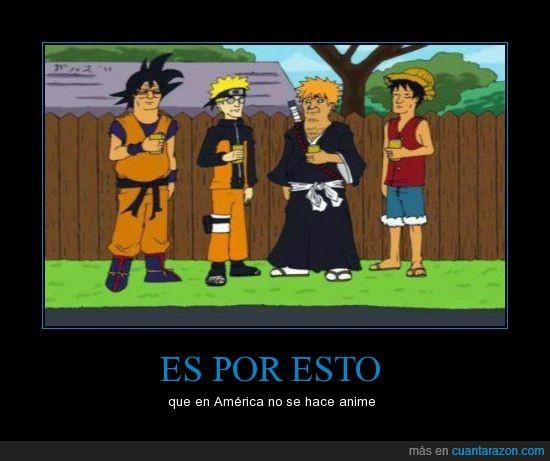 america,anime,bleach,dragon ball,goku,ichigo,king of the hill,luffy,naruto,one piece,rey colina