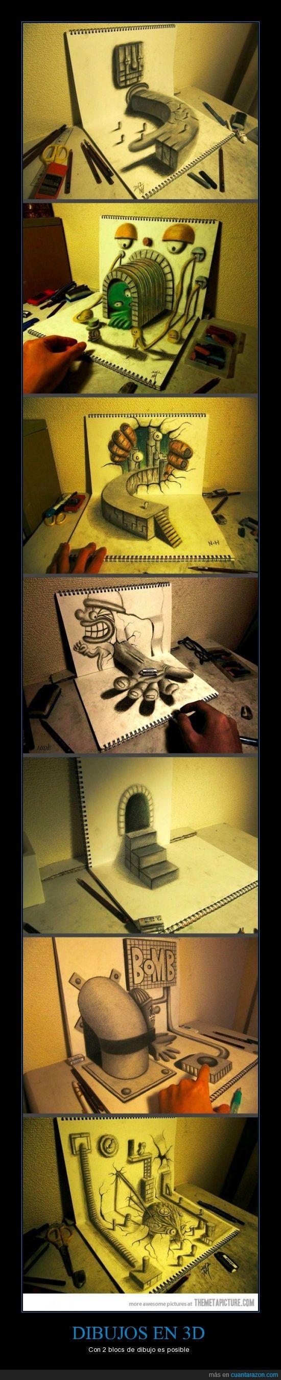 3D,bloc,dibujo,dibujos,epico,impresionante