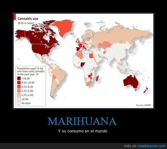 cannabis,consumo,distribución,droga,marihuana,mundo,proporción