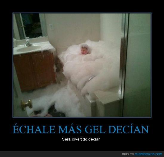 ducha,espuma,gel,niño,ojos