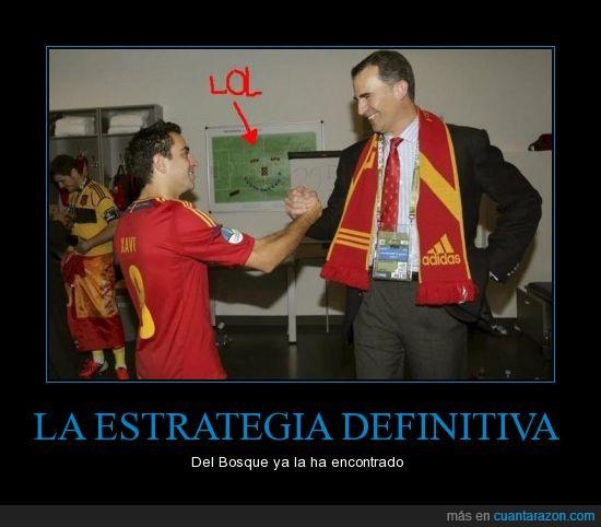 estratégia,futbol,La Roja,Prícipe,risa,Xavi