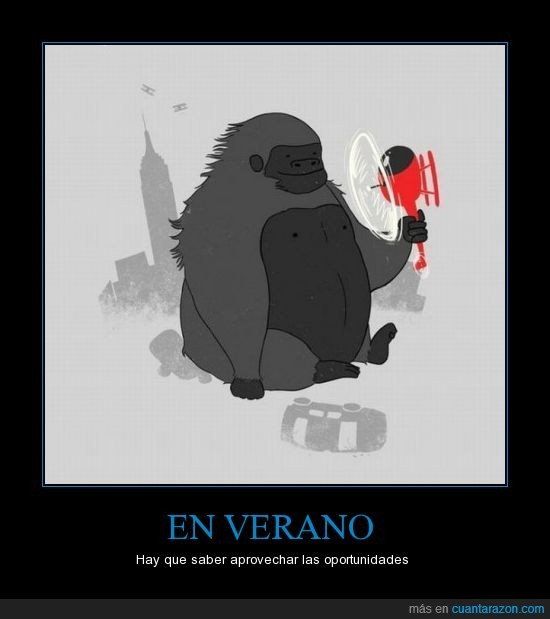 calor,helice,helicoptero,king kong,think in positive,ventilador