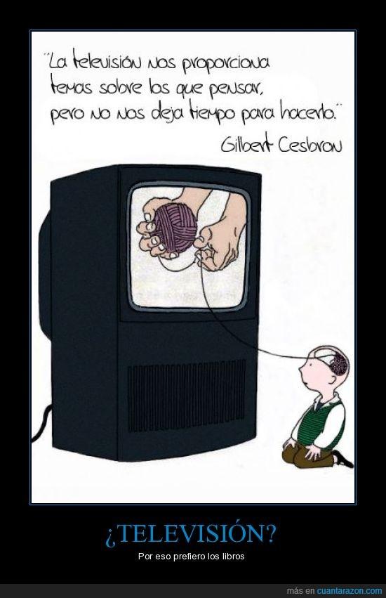atonta,bola,cerebro,lana,libro,niño,ovillo,televisión,tema,tiempo