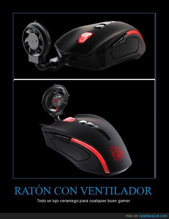 friki,gamer,mouse,raton,Thermaltake Cyclone,ventilador