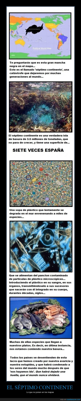 catástrofe ecológica,isla de basura,negligencia,plástico,Séptimo continente,veneno