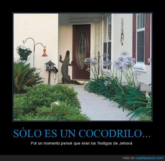 casa,Cocdrilo,dios,Lacoste,no queremos comprar nada,Testigos de Jehova
