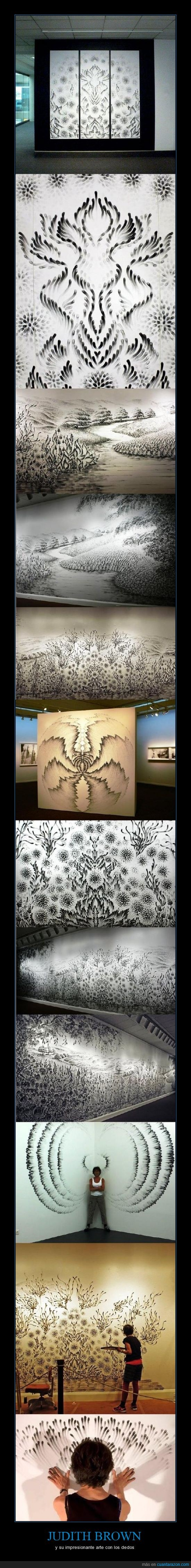 arte,dedos,increíble,Judith Brown,pintar