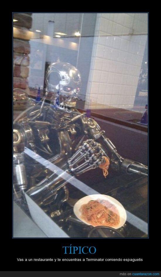 comer,espaguetis,Restaurante,spaghetti,Terminator,Tipico