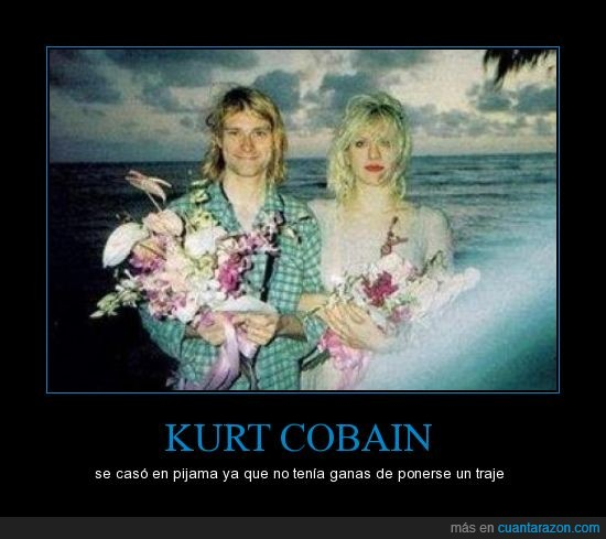 boda,casa,cobain,courtney love,kurt,nirvana,pijama
