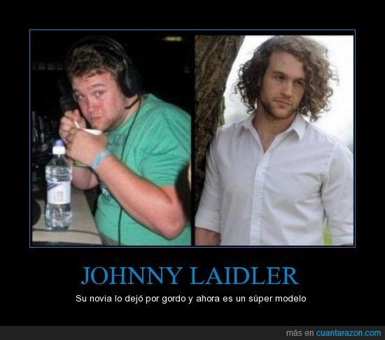 adelgaza,ex,gordo,Johnny Laider,modelo,perder,peso,pierde