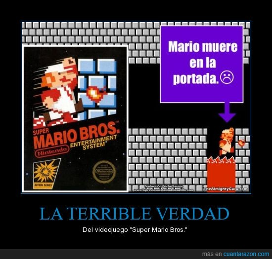 portada,Super Mario Brothers,terrible,videojuego