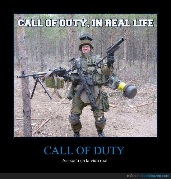 call of duty,cod,encima,items,lleva,real,soldado,todo,versión,vida