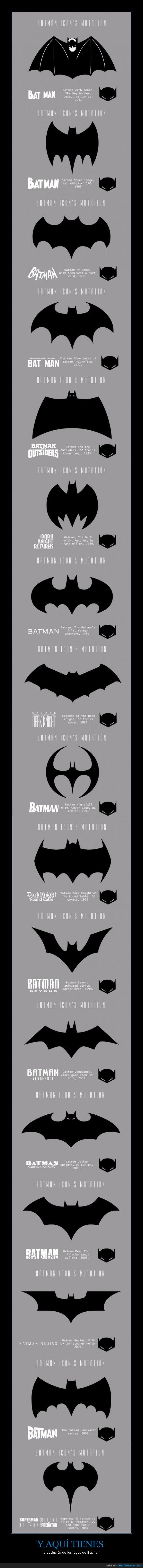 Batman,cambio,evolucion,logo