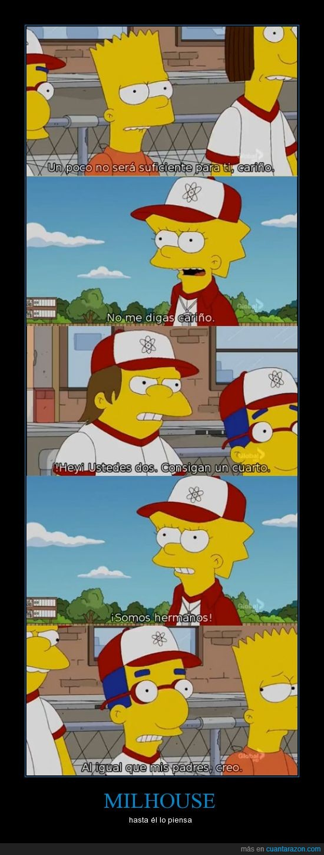hermano,milhouse,padre,Simpson,todos lo sospechamos,vanhouten