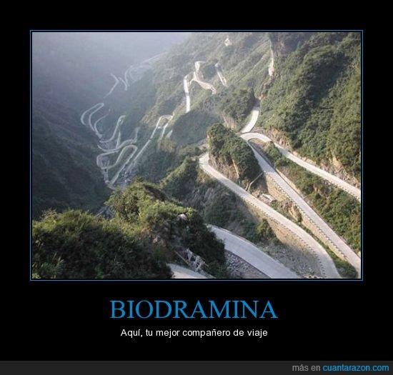biodramina,coches,curvas,mareo,rally,vomitar