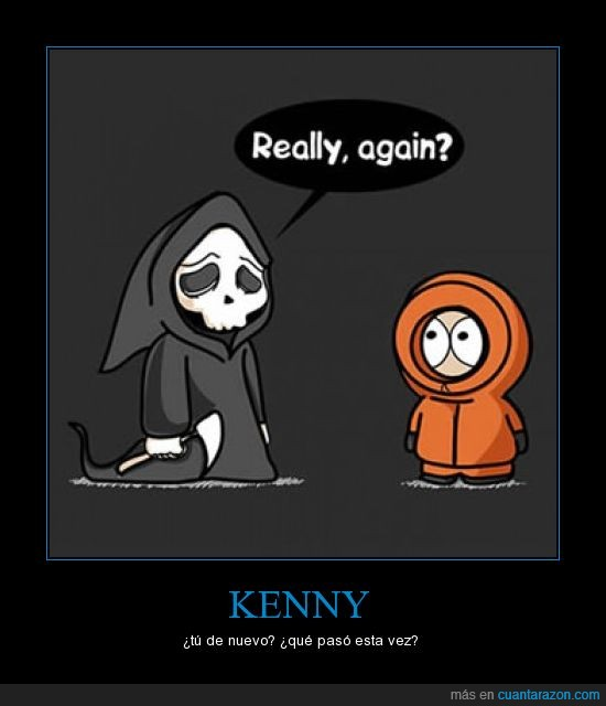 kenny,muerte,southpark