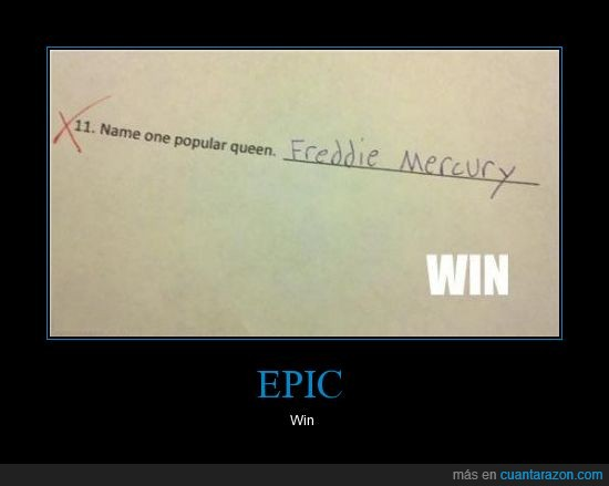 epic win,freddie mercury,joder,lol,prueba,queen,win