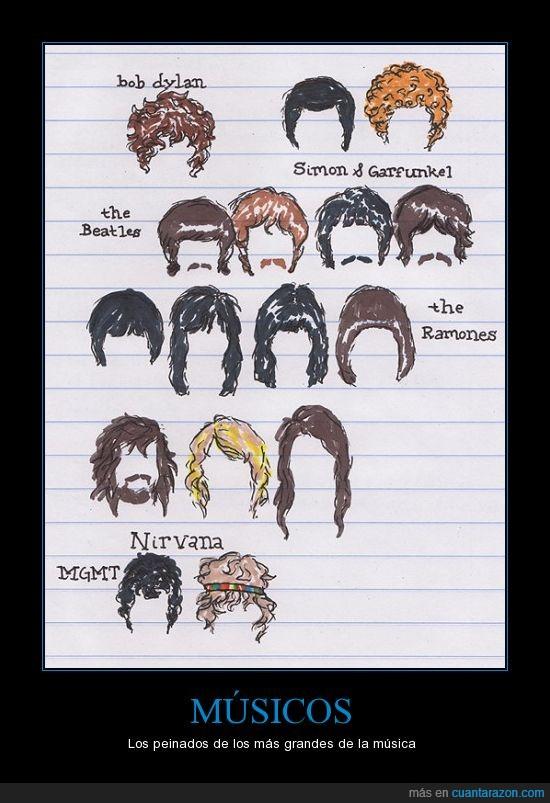 curiosidad,kurt,mgmt,música,nirvana,peinado,ramones,rock