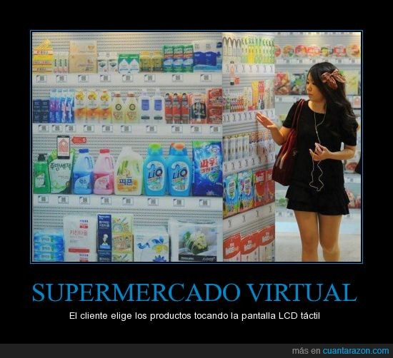 corea,lcd,productos,supermercados,virtual