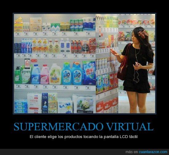 corea,lcd,productos,supermercados,virtual