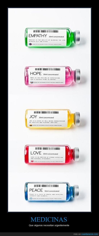 amor,diversión,empatía,esperanza,Medicina,paz