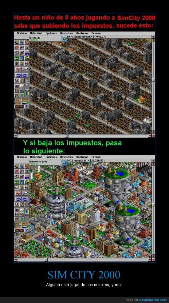 subida impuestos IVA politica sim city juego videojuego rajoy politico corrupcion sistema